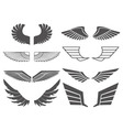 wings set 2 vector image