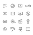 Movie Line Icons vector image
