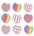 Colorful abstract set of balls vector image