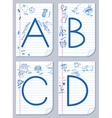 alphabet sketch vector image