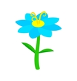 Blue flower icon isometric 3d style vector image
