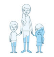 blue silhouette shading caricature full body vector image