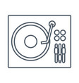 dj turntable symbol vector image
