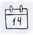 doodle paper calendar vector image