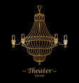 for theater black background vector image