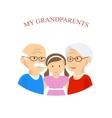 Grandparents Family with Grandchild vector image