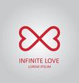 Infinite love logo vector image