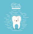 kawaii caricature broken tooth dental care with vector image