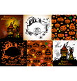 Set of Halloween cards vector image