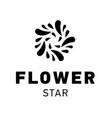 star logo design flower symbol graphic vector image