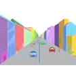 Urban landscape in flat design style vector image