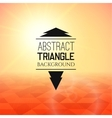 Abstract yellow sunset with red triangle field vector image
