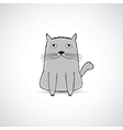 Cute fat kitten vector image