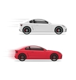 Cars racing fast flat auto moving on high vector image vector image