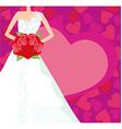 Abstract Beautiful bride card vector image