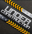 under construction sign on a textured background vector image