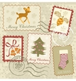 Christmas stamps collection vector image vector image