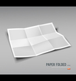 Paper Folded nine fold for business design vector image
