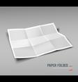Paper Folded nine fold for business design vector image vector image
