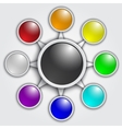 business graphic template with rainbow color vector image