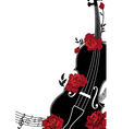 floral musical composition vector image vector image