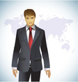 portrait of a businessman vector image
