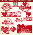 happy birthday grunge stamp vector image vector image
