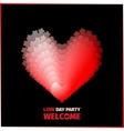 Invitation to Love Day vector image