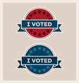 I voted circle banner and ribbon set vector image