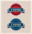 I voted circle banner and ribbon set vector image