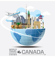 Canada Landmark Global Travel And Journey vector image