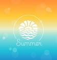 abstract logo design template - sun and sea vector image