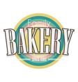 Bakery Label design vector image