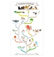 Biological evolution animals scheme vector image