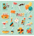 Celebration set of party sticker icons and objects vector image
