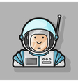 contour icon cute astronaut in a suit and helmet vector image