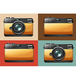 Retro camera set on backgrounds vector image