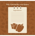 Template for recipe books vector image