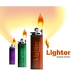 lighter ad template with orange blaze vector image vector image