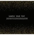black background with gold snow vector image