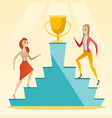 businesswomen competing for the business award vector image
