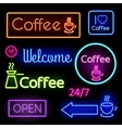 Glowing neon signs vector image