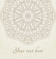 abstract floral henna Indian Mehndi card with text vector image