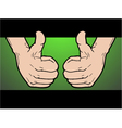 winner hand pose vector image vector image