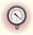 Manometer measuring device comic book vector image