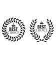 Award Laurel Wreath Best Choice Label vector image