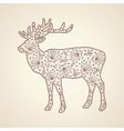Christmas lace deer vector image