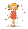 Cute little girl looking susrprised vector image