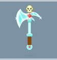 fantasy weapon battle-ax poleax vector image