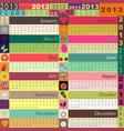 Funny calendar vector image